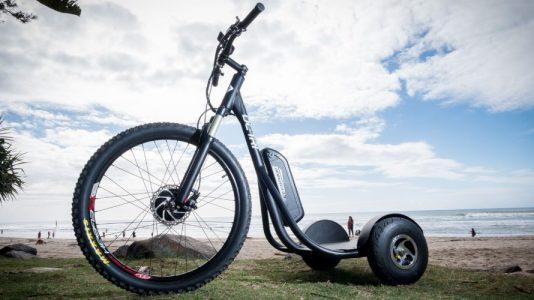 DC-Tri, bicicleta electrica para ir de pie