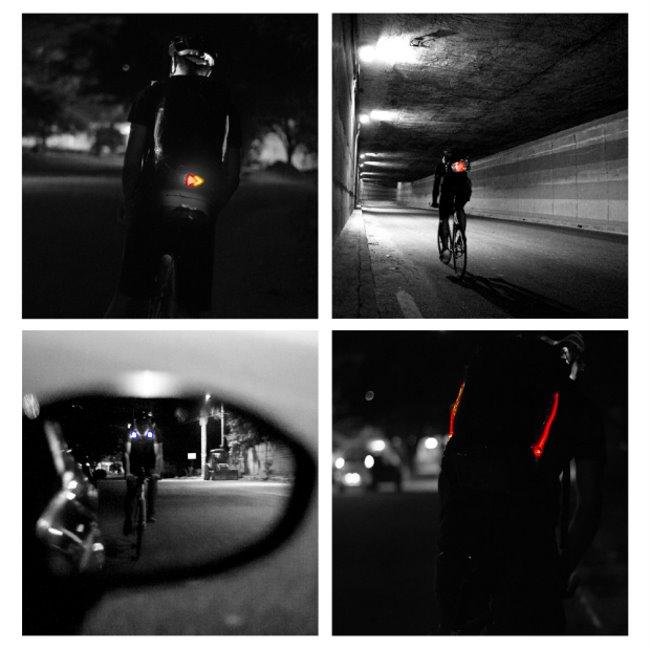 Lumos Aster, mochila con luces para ir en bicicleta