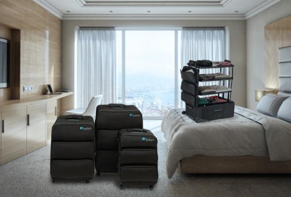 ShelfPack, la maleta con baldas para organizar mejor la ropa