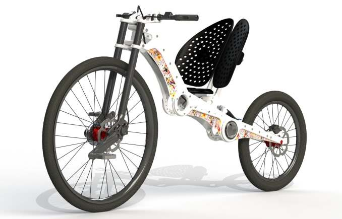 MC2 Chopper, bicicleta electrica reclinada