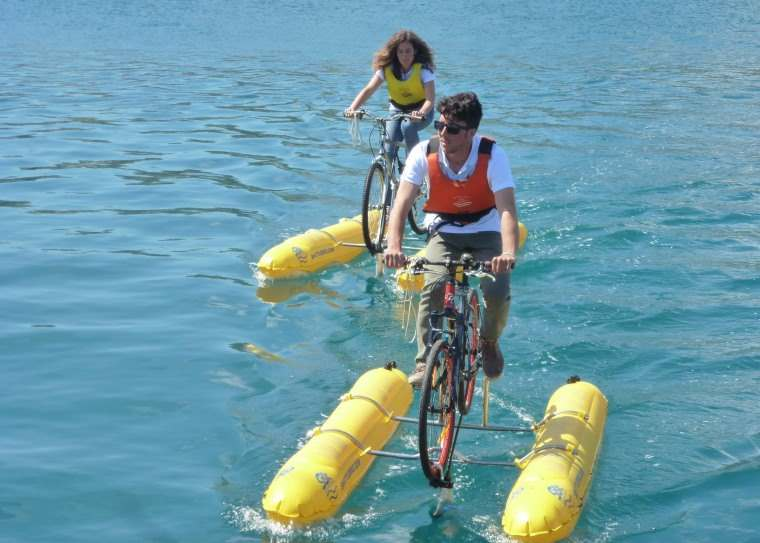 Shuttle Bike Kit, un kit para convertir tu bicicleta en bicicleta acuatica