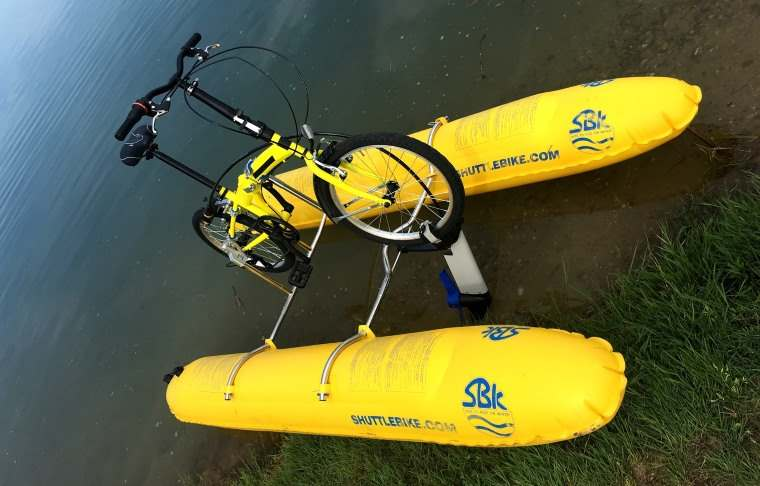 Shuttle Bike Kit, un kit para conviertir bicicleta en acuatica en pocos minutos