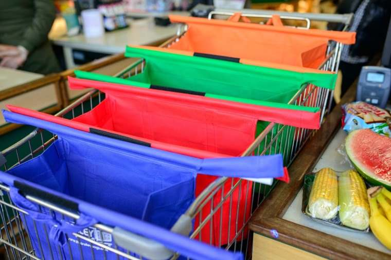 Trolley Bags, un genial sistema de bolsas plegables para el carrito de la compra