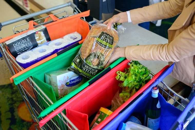 Trolley Bags, un practico sistema de bolsas plegables para el carrito de la compra