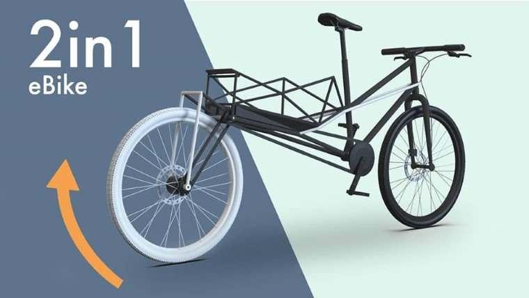Convercycle, e-bike que se convierte en bicicleta de carga