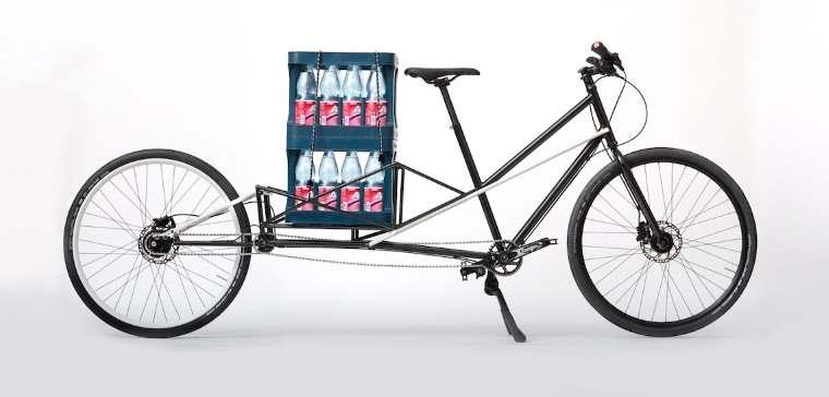 bicicleta eléctrica que puede convertirse en segundos en una bicicleta de carga