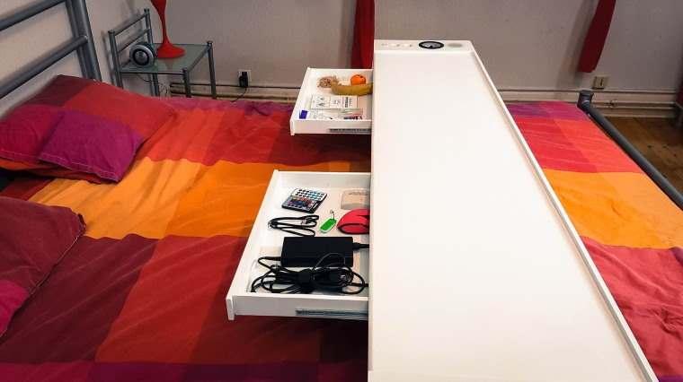 Bedchill, mesa multifuncion para cama