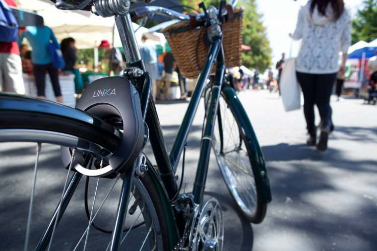 Linka, candado de bicicleta con desbloqueo automatico