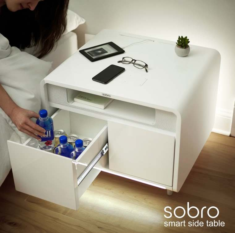 Sobro Smart Side Table, mesa auxiliar tecnologica