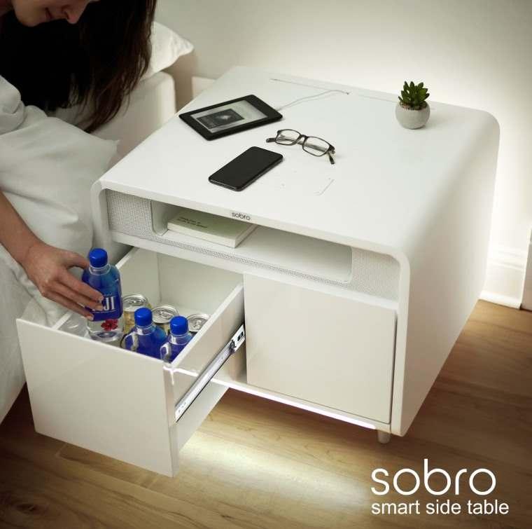 Sobro Smart Side Table, mesa auxiliar tecnologica