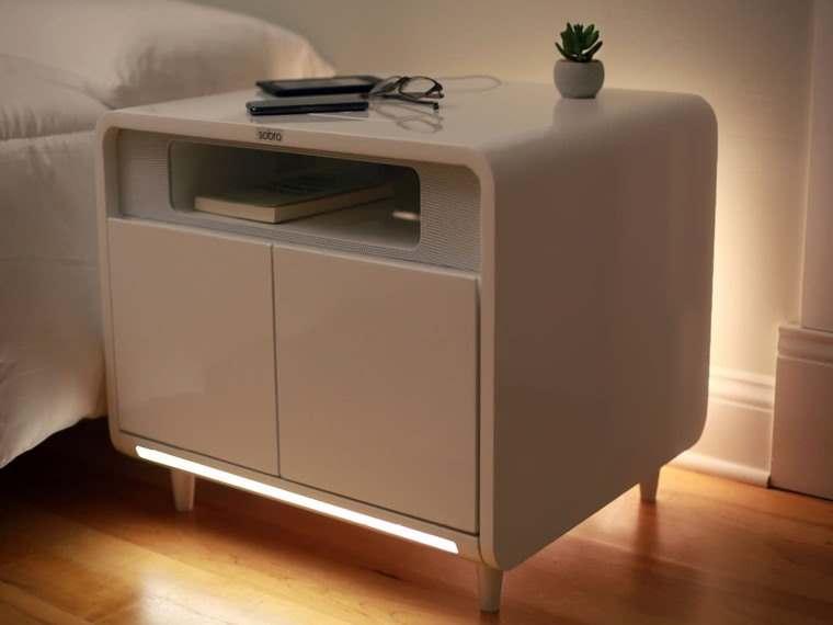 Sobro Smart Side Table, mesita de noche futurista
