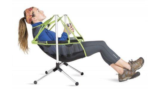 Stargaze Recliner, silla para acampar que se reclina y balancea
