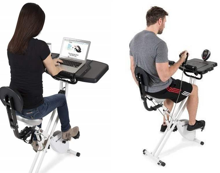 Bike Desk 3.0, bicicleta estica con escritorio incorporado