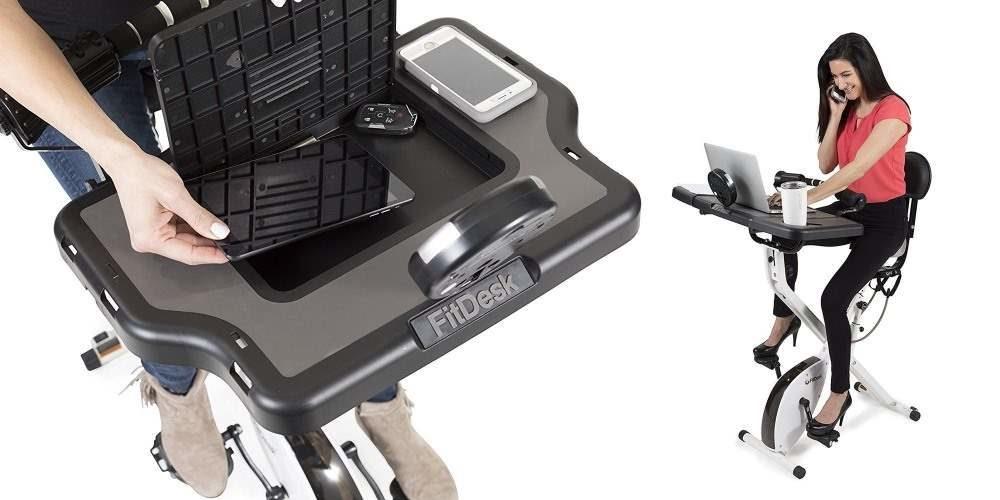 Bike Desk 3.0, bicicleta estica con escritorio para el pc
