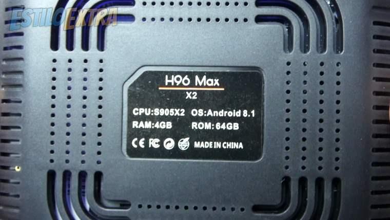 Carcasa de la H96 Max X2 TV Box