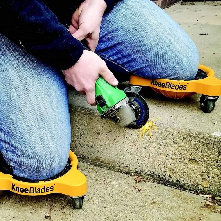 Rodilleras con ruedas para trabajar agachado