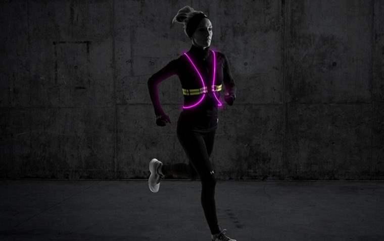 Chaleco iluminado para running