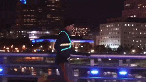 Chaleco led iluminado para correr