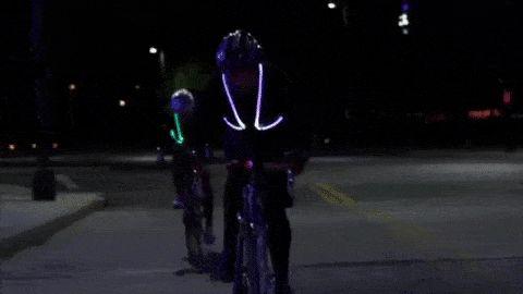 Claleco iluminado para ciclismo