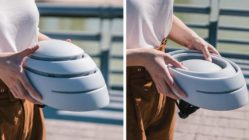Closca Fuga, un elegante casco de bicicleta que se pliega
