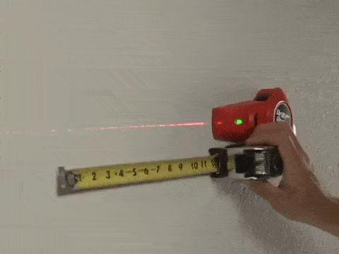 Recolector de polvo con laser para perforaciones en pared