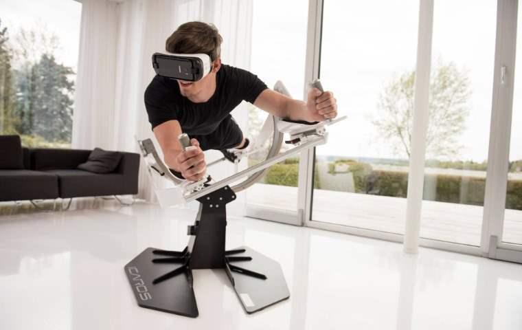 Experiencia de vuelo en realidad virtual