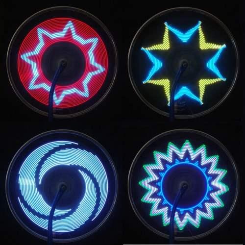 Luces animadas para las ruedas de la bicicleta