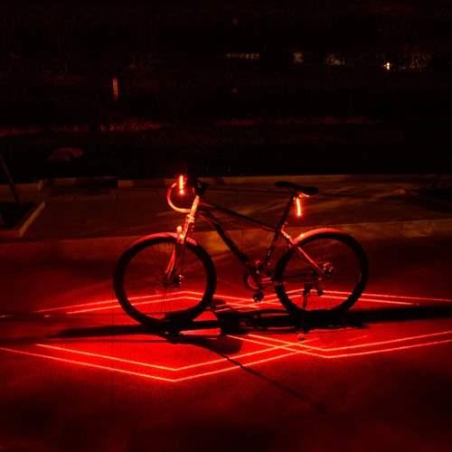 Luz laser para la bicicleta