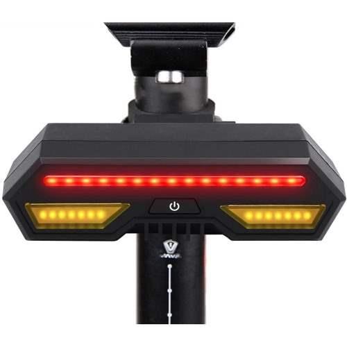 Luz trasera con intermitentes para la bici