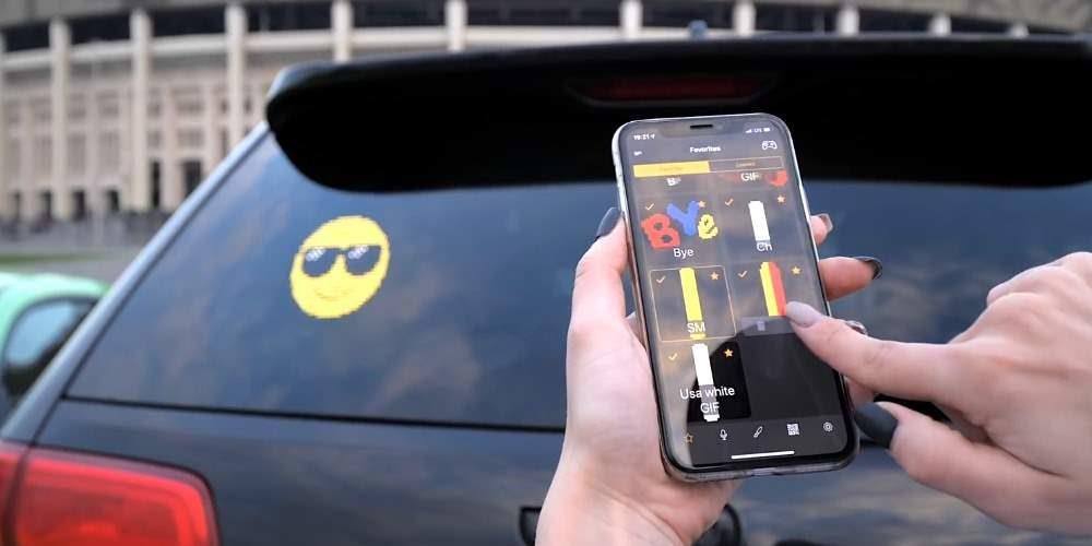 Mojipic, dispositivo de emojis animados para el coche