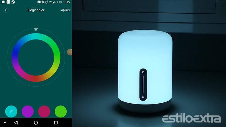 Configuración de colores en la nueva lampara de Xiaomi