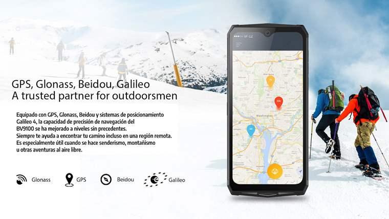 Telefono resistente con bateria y gps de alto rendimiento