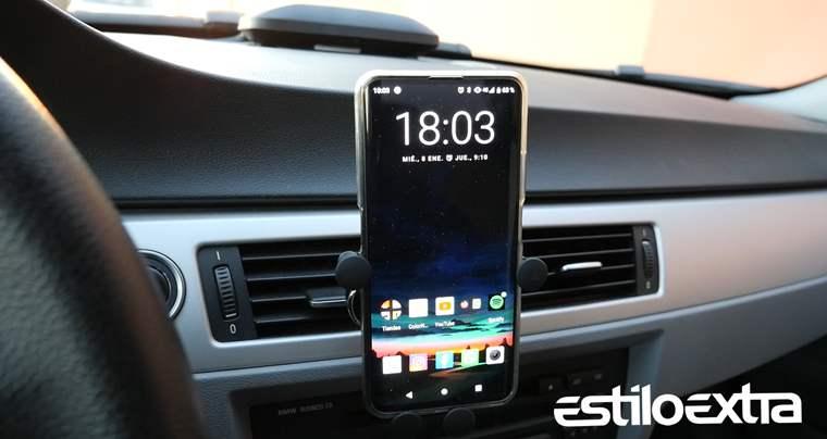 Soporte de telefono efecto gravedad para el coche