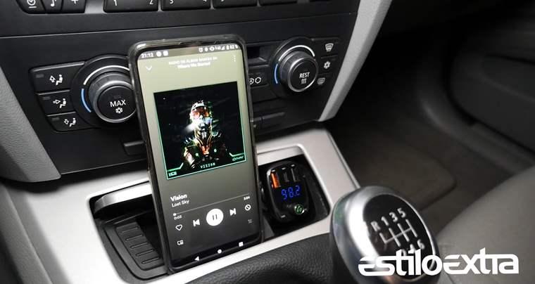 Transmisor FM con Bluetooth 5.0 y carga rápida Quick Charge 4.0
