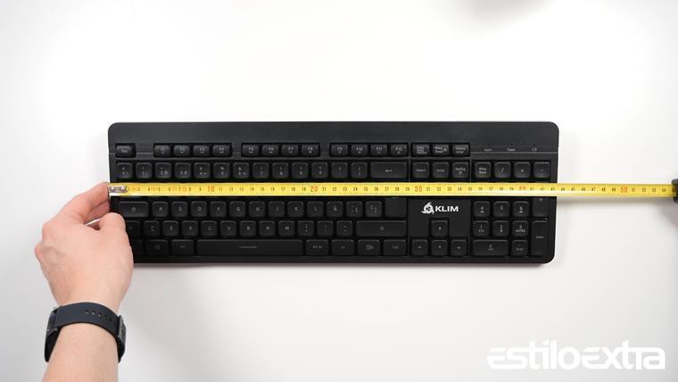 Medidas del teclado KLIM Light V2