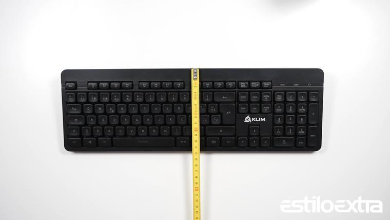 Medidas del teclado