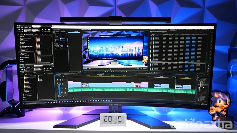 Edicion de video con el monitor Gigabyte G34WQC